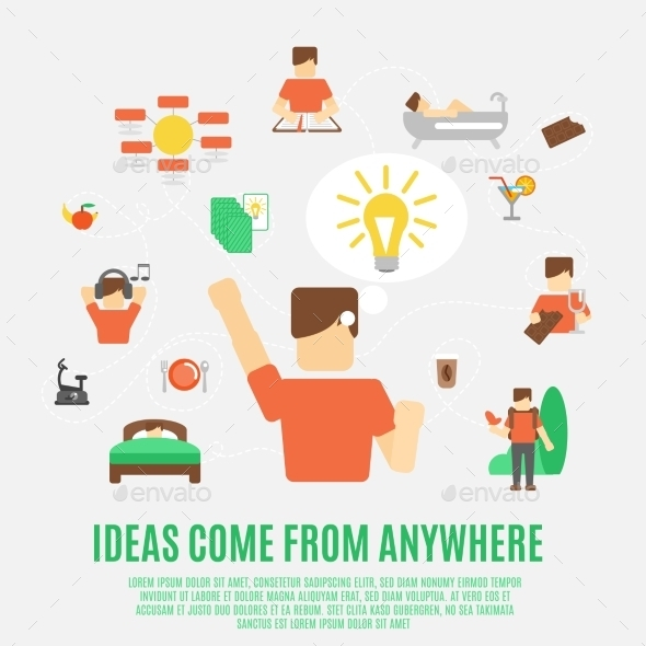 Ideas Concept Flat - Conceptual Vectors