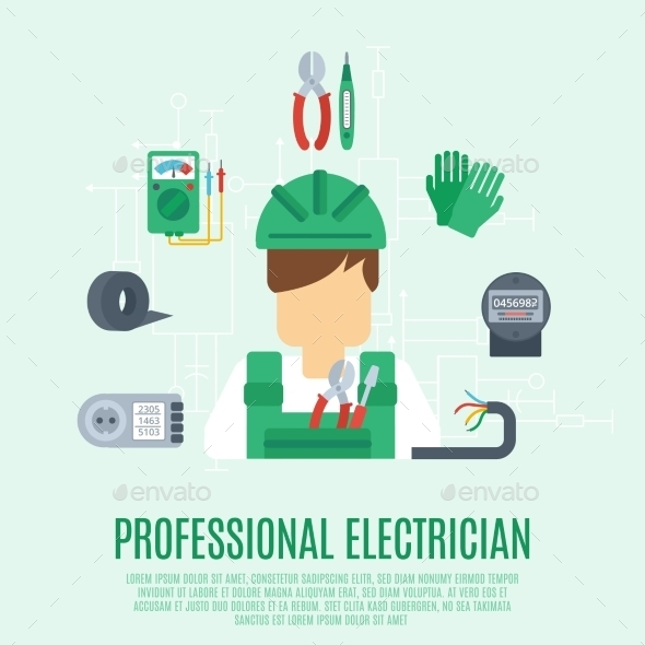 Professional Electrician Concept - Industries Business