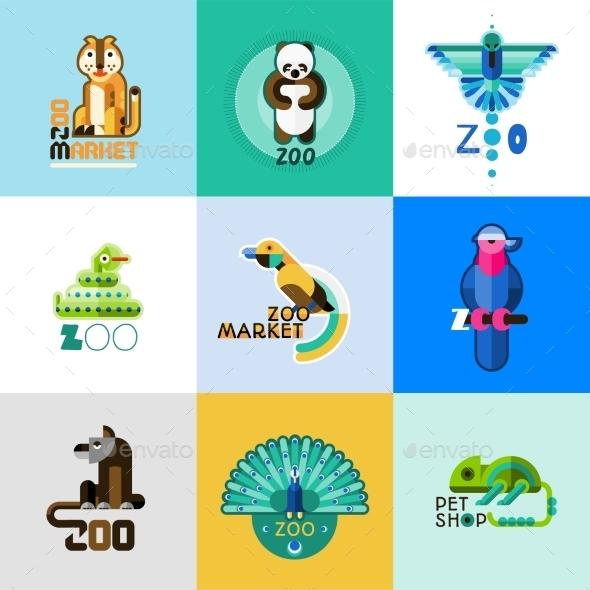 Zoo Set - Animals Characters