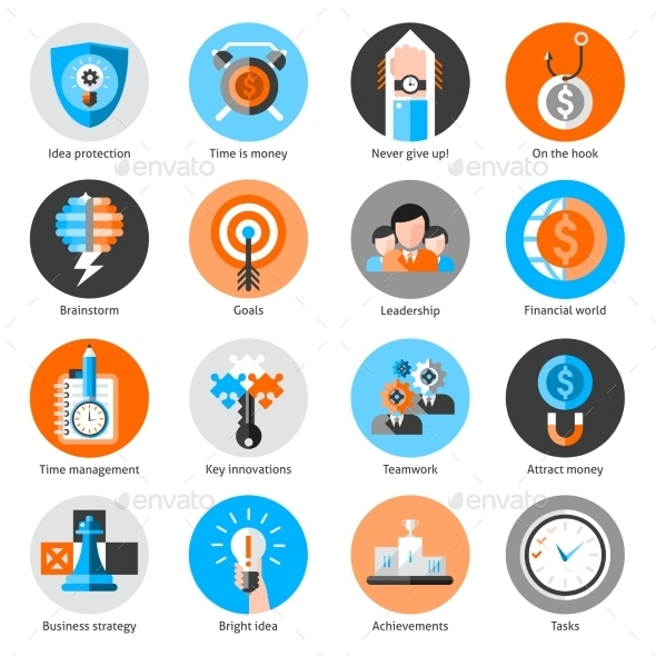 Business Concept Icons Set - Concepts Business