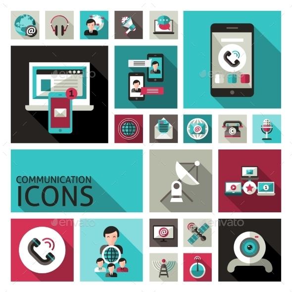 Communication Icons Set - Communications Technology