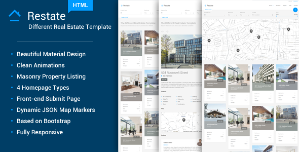 Restate – Different Real Estate Material Template