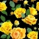 Seamless Floral Background with Yellow Roses - GraphicRiver Item for Sale
