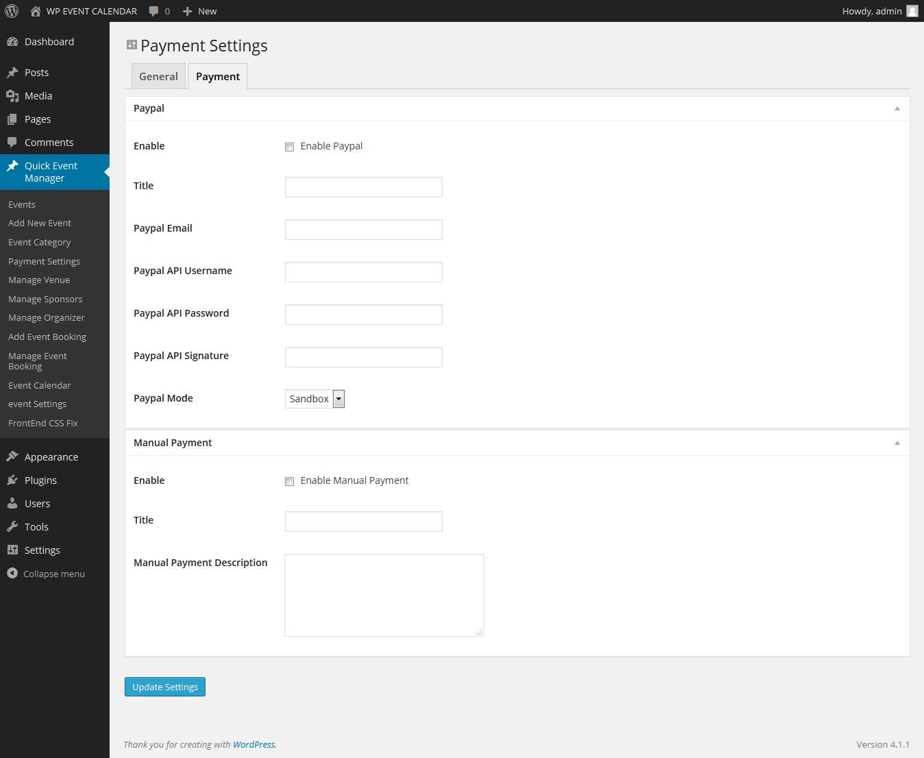 EventCommerce WP Responsive Event Calendar Pro