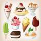 Set of Ice Cream - GraphicRiver Item for Sale