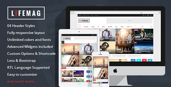 LifeMag – Responsive Magazine WordPress Theme