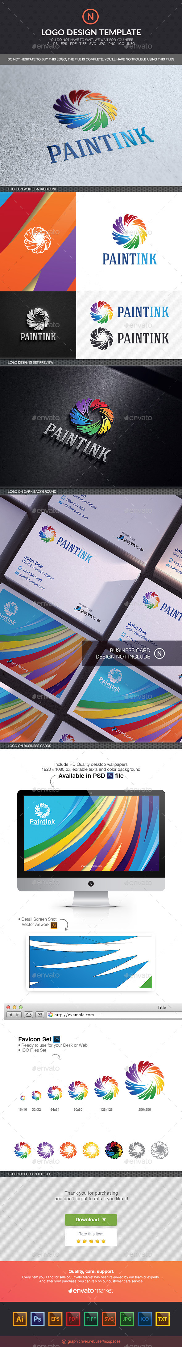 Paint Ink - Abstract Logo Templates