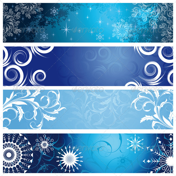 Winter banners - Seasons Nature