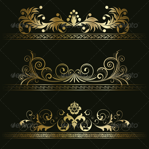 Set from retro frames - Patterns Decorative