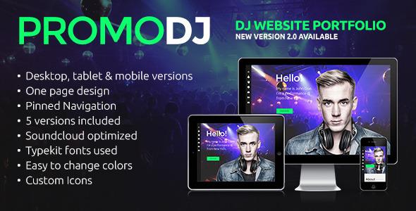 PromoDJ – One Page DJ Portfolio Muse Template