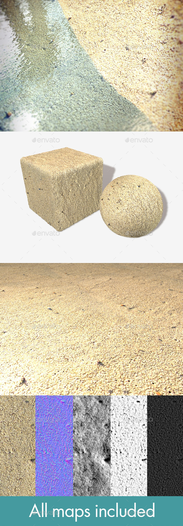Flat Sand Seamless Texture - 3DOcean Item for Sale