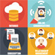 Set of Customer Relationship Management Icons - GraphicRiver Item for Sale