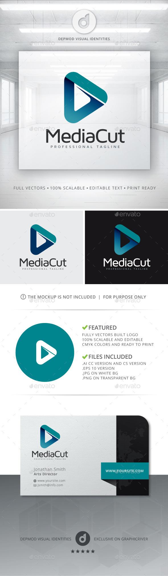 Media Cut Logo - Abstract Logo Templates