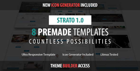 Strato – Responsive Email + Builder Access