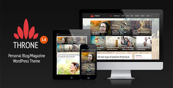 Throne – Personal Blog/Magazine WordPress Theme