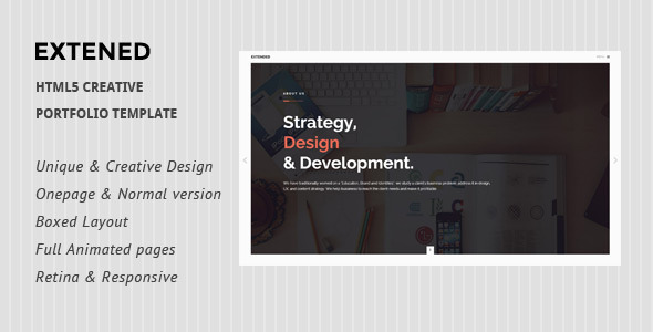 Extended - HTML5 creative Portfolio Template - Creative Site Templates