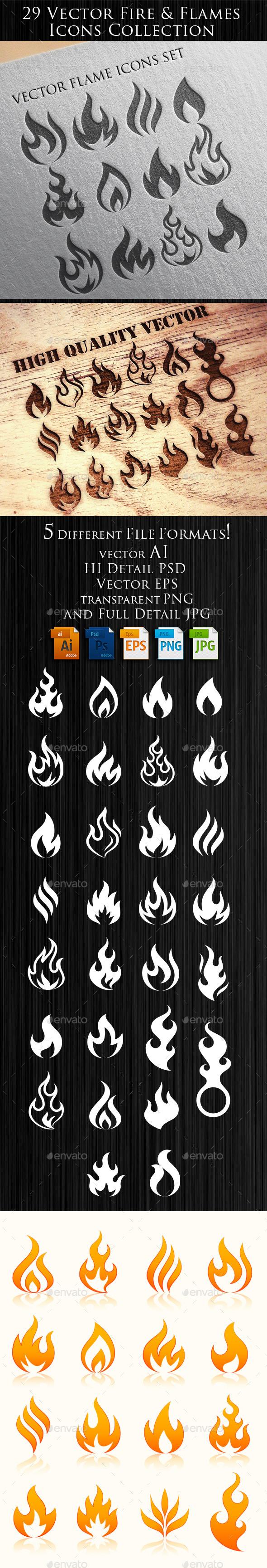 Flames Illustrations - Decorative Symbols Decorative