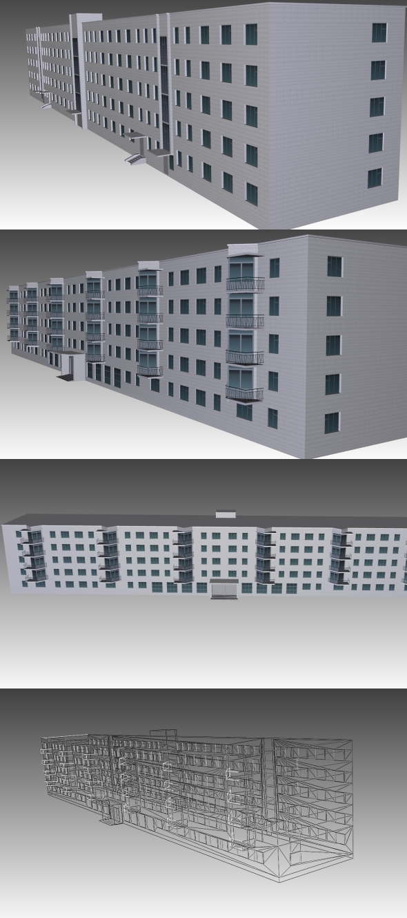 Low Poly Building 5 for game - 3DOcean Item for Sale