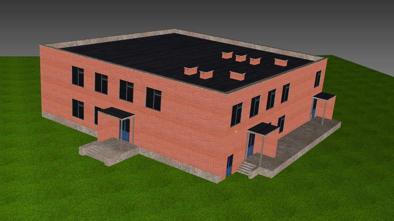 Low Poly Building 8 for game