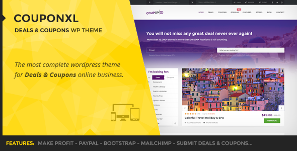 CouponXL – Coupons, Deals & Discounts WP Theme
