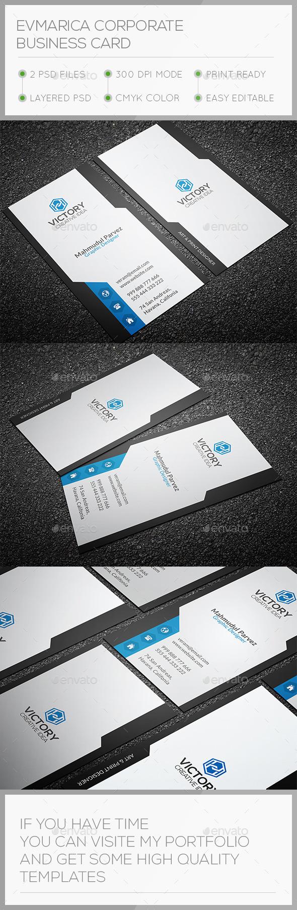 Evmarica Corporate Business Card - Corporate Business Cards