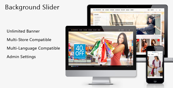 Fullscreen Background PrestaShop Slider - CodeCanyon Item for Sale
