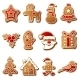 Gingerbread Christmas Cookies Set - GraphicRiver Item for Sale