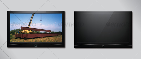 Flat Panel Television - Man-made Objects Objects