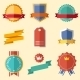 Vintage, Retro Flat Badges, Labels - GraphicRiver Item for Sale