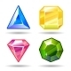 Cartoon vector gems and diamonds icons set - GraphicRiver Item for Sale