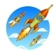 Rockets Illustration  - GraphicRiver Item for Sale