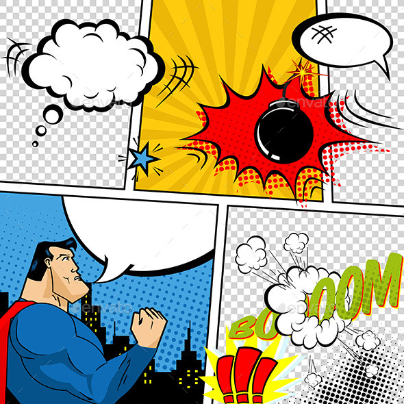retro comic book speech bubblesdesigner_things | graphicriver, Modern powerpoint