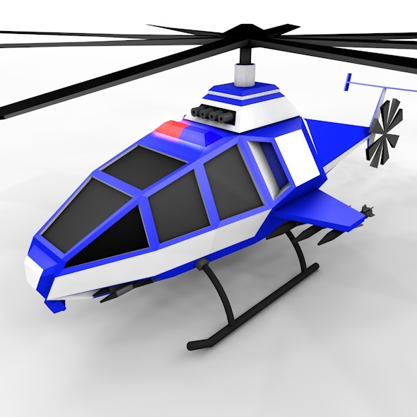 Police helicopter - 3DOcean Item for Sale