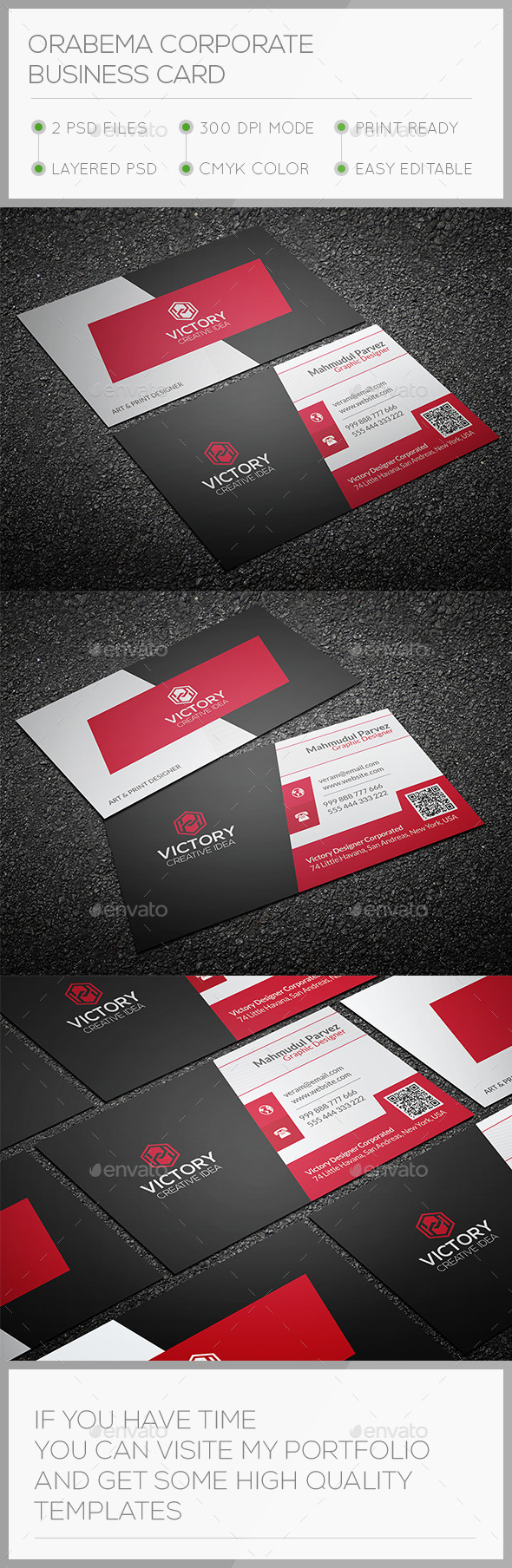 Orabema Corporate Business Card - Corporate Business Cards