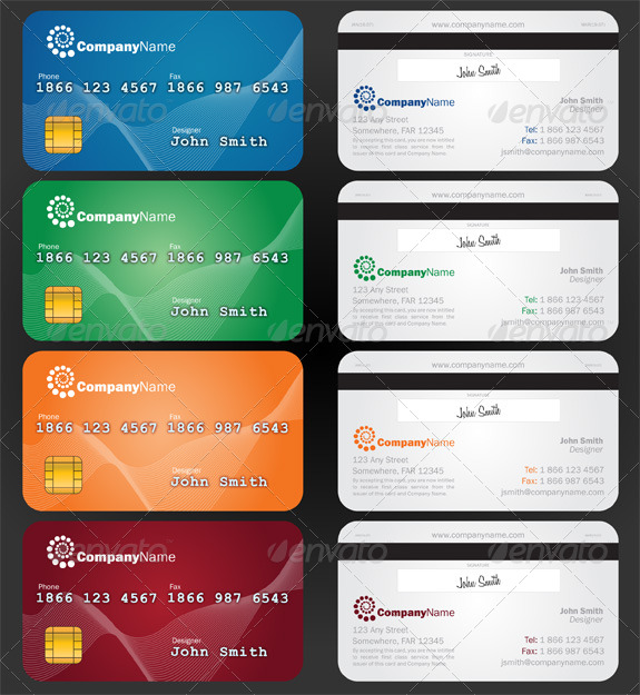 Credit card style paper business card by jameelkarim graphicriver credit card style paper business card creative business cards colourmoves