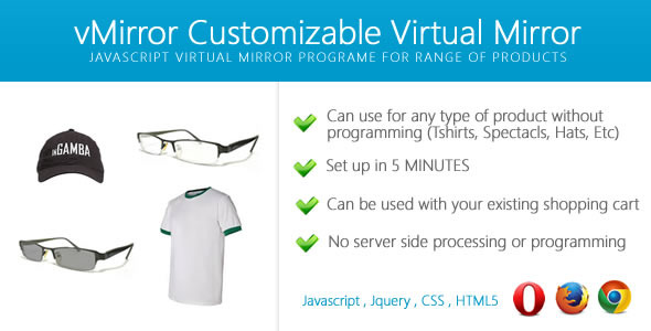 vMirror - Customizable Virtual Mirror  - CodeCanyon Item for Sale