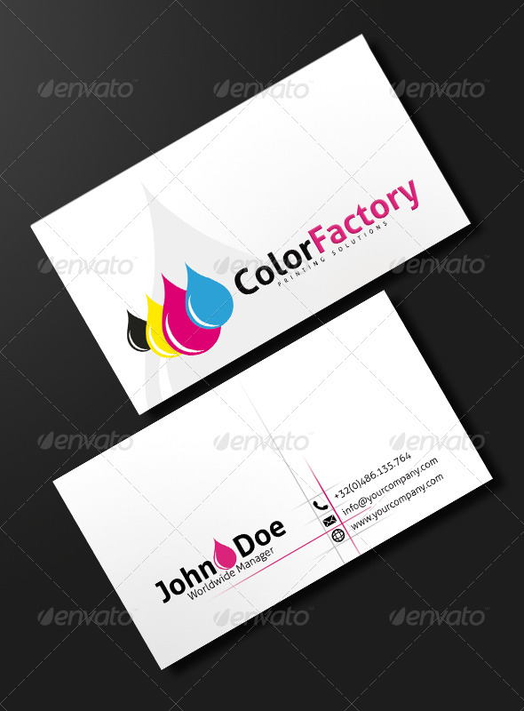 Ink Power - Print Business Card - Industry Specific Business Cards