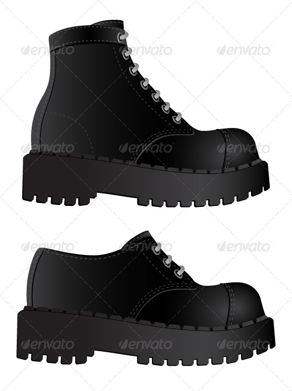 Isolated image of a boots - Miscellaneous Vectors