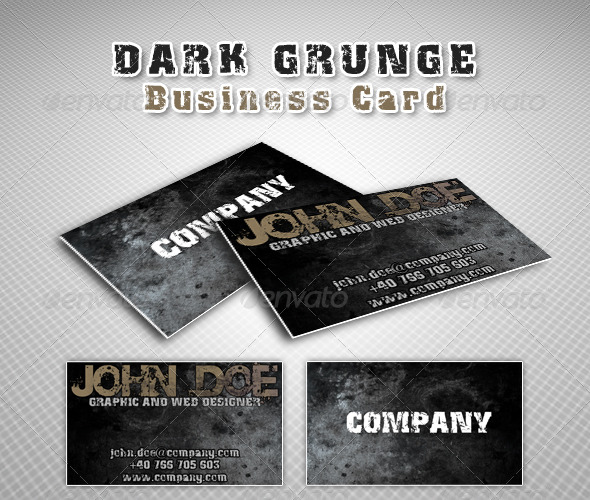 Dark grunge business card - Grunge Business Cards