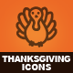 Hand Drawn Thanksgiving Day Icons - GraphicRiver Item for Sale