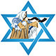 Star of David Rabbi with Talit Blows The Shofar - GraphicRiver Item for Sale