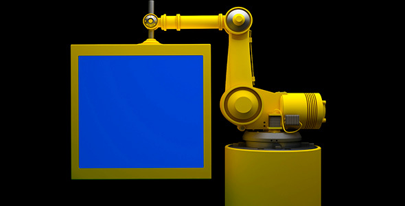 Videohive - After Effects Template -  Robot and Monitor With Blue Screen