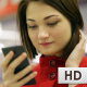 Close-up Typing Woman on Mobile Phone - VideoHive Item for Sale