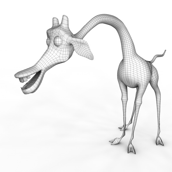Giraffe Melman low poly - 3DOcean Item for Sale