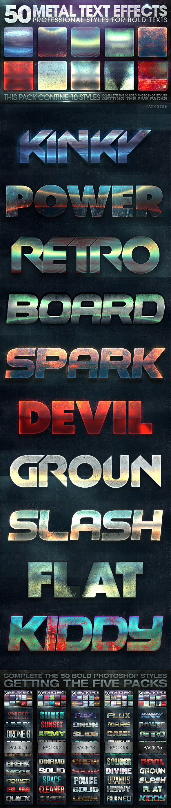 50 Metal Text Effects 5 of 5 - Text Effects Styles