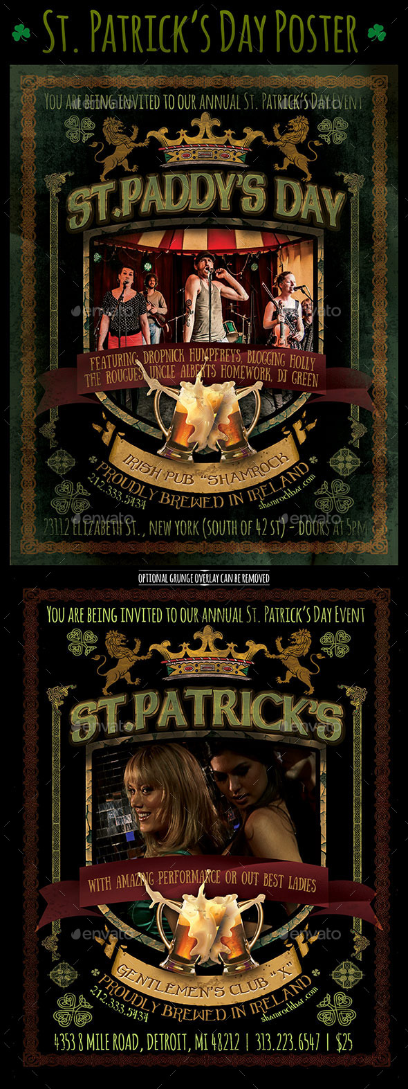 St. Patricks Day Poster - St Paddys - Holidays Events