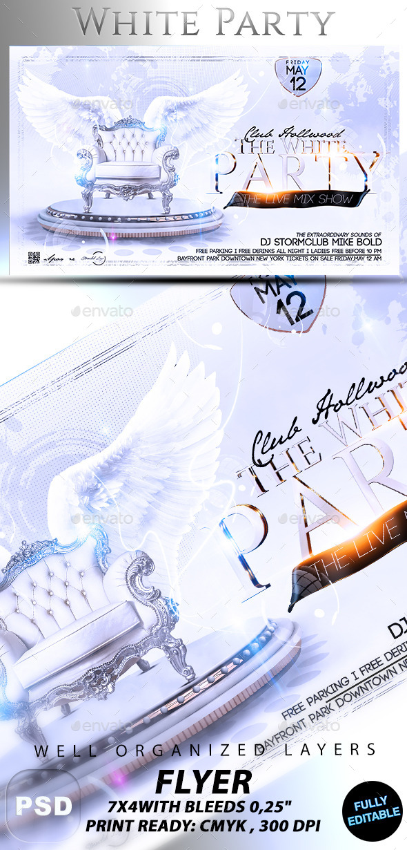 White Party - Events Flyers