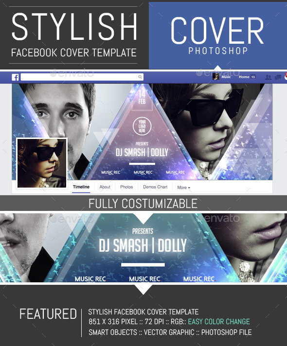 2 Djs Event Party Facebook Timeline Cover Template by DogmaDesign ...