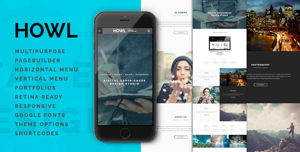 Howl – Creative Multi-Purpose WordPress Theme