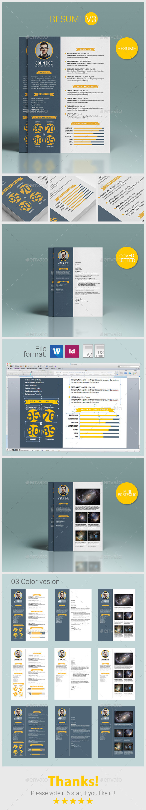 Resume V3 - Resumes Stationery